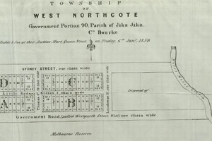 Proposed Township of West Northcote in 1854