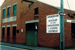 Anderson & Ritchie's Iron Foundry, 143 Rose Street (cnr. Young St.)