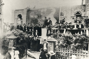 The Laying of the Fitzroy Library Foundation Stone